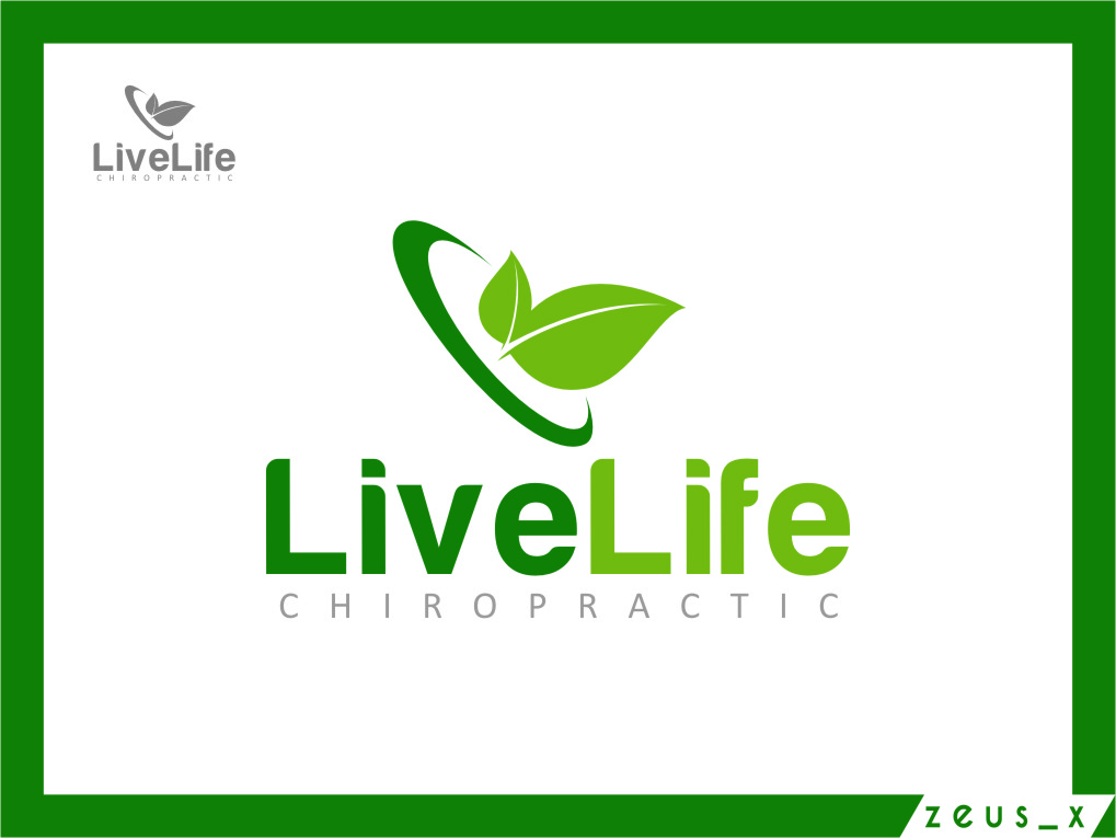 Logo Design by Ngepet_art - Entry No. 118 in the Logo Design Contest Captivating Logo Design for LiveLife Chiropractic.