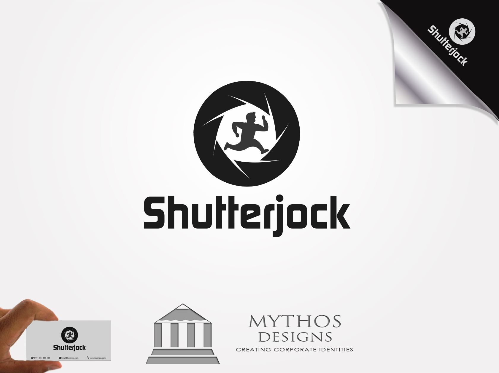 Logo Design by Mythos Designs - Entry No. 49 in the Logo Design Contest Unique Logo Design Wanted for Shutterjock LLC.