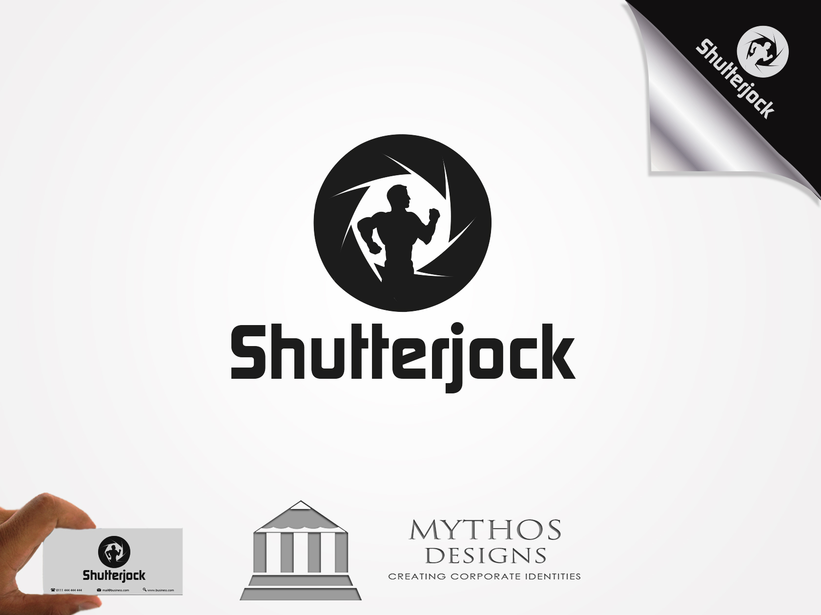 Logo Design by Mythos Designs - Entry No. 59 in the Logo Design Contest Unique Logo Design Wanted for Shutterjock LLC.