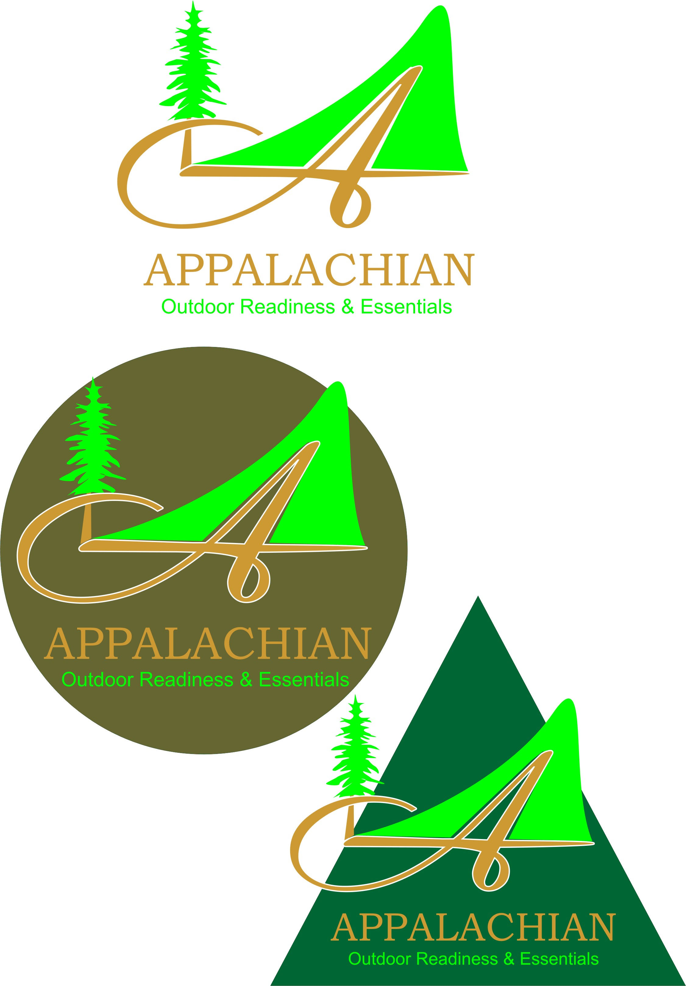 Logo Design by Korsunov Oleg - Entry No. 20 in the Logo Design Contest Imaginative Logo Design for Appalachian Outdoor Readiness & Essentials.