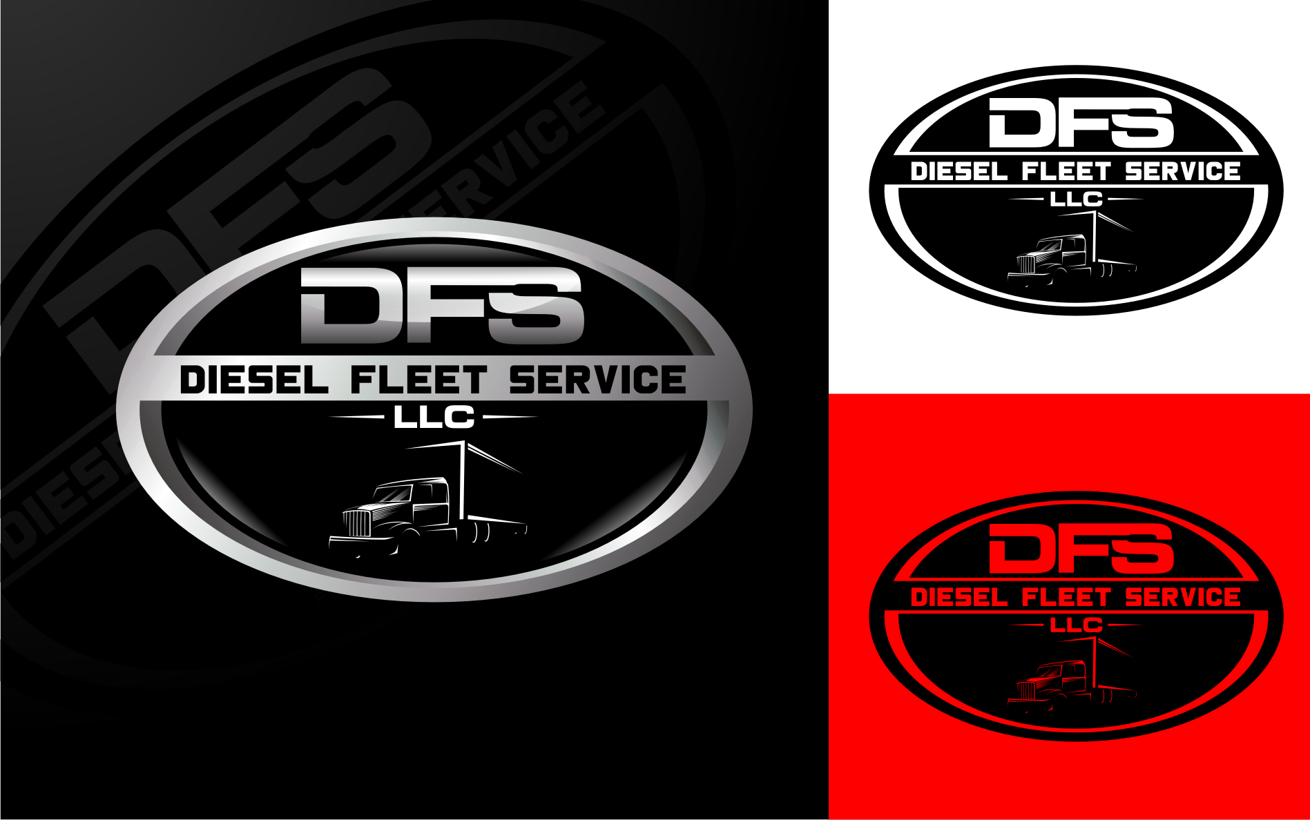 Logo Design by Tille Famz - Entry No. 82 in the Logo Design Contest Artistic Logo Design for Diesel Fleet Service, LLC.