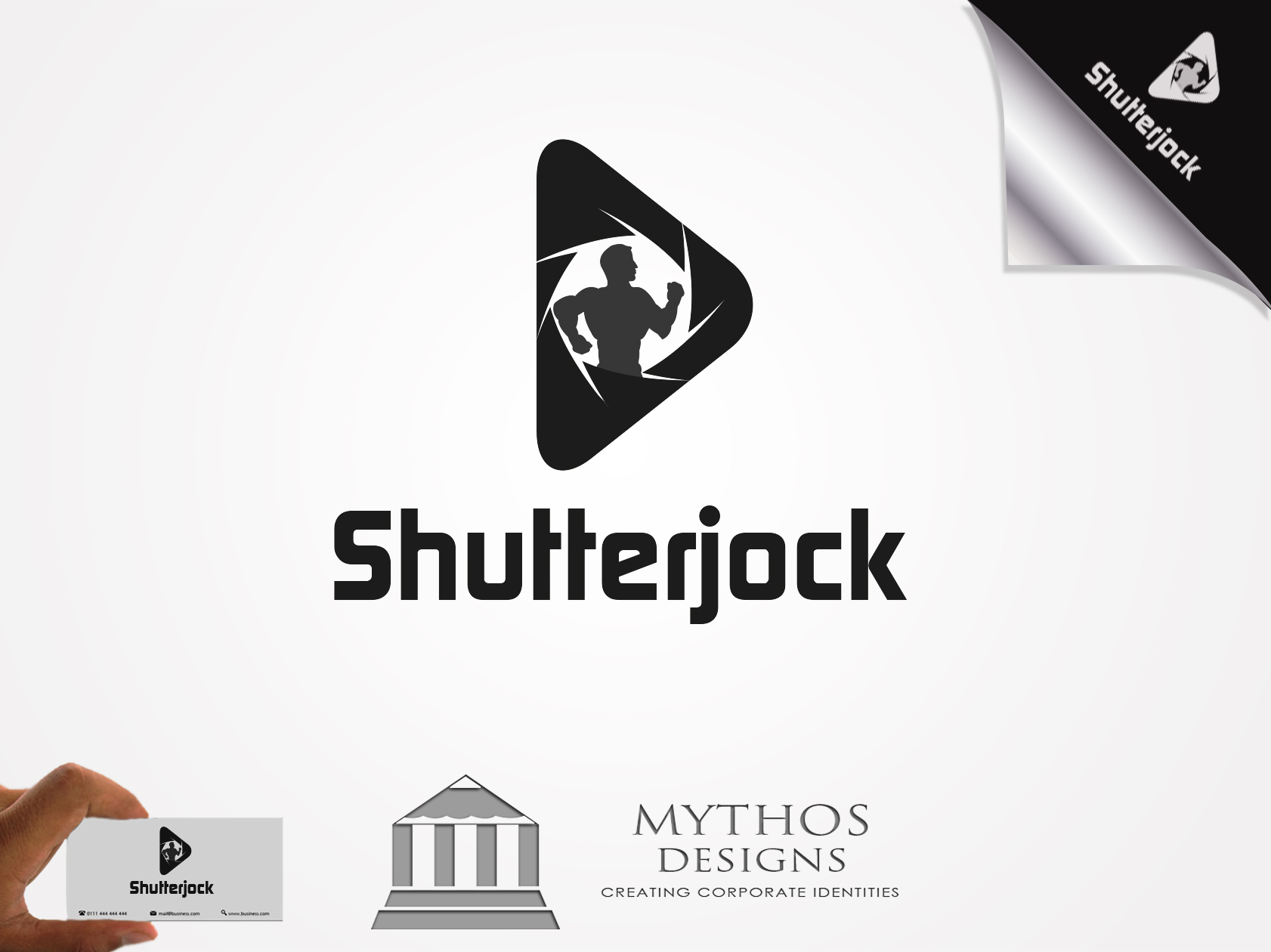 Logo Design by Mythos Designs - Entry No. 71 in the Logo Design Contest Unique Logo Design Wanted for Shutterjock LLC.