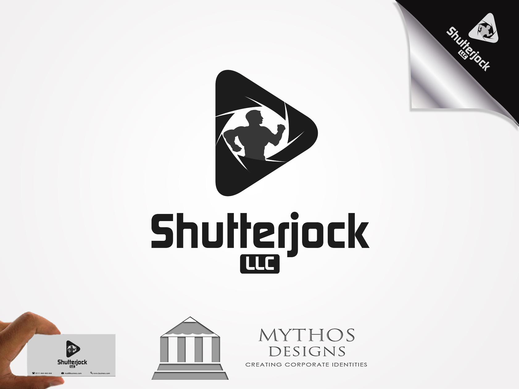 Logo Design by Mythos Designs - Entry No. 73 in the Logo Design Contest Unique Logo Design Wanted for Shutterjock LLC.