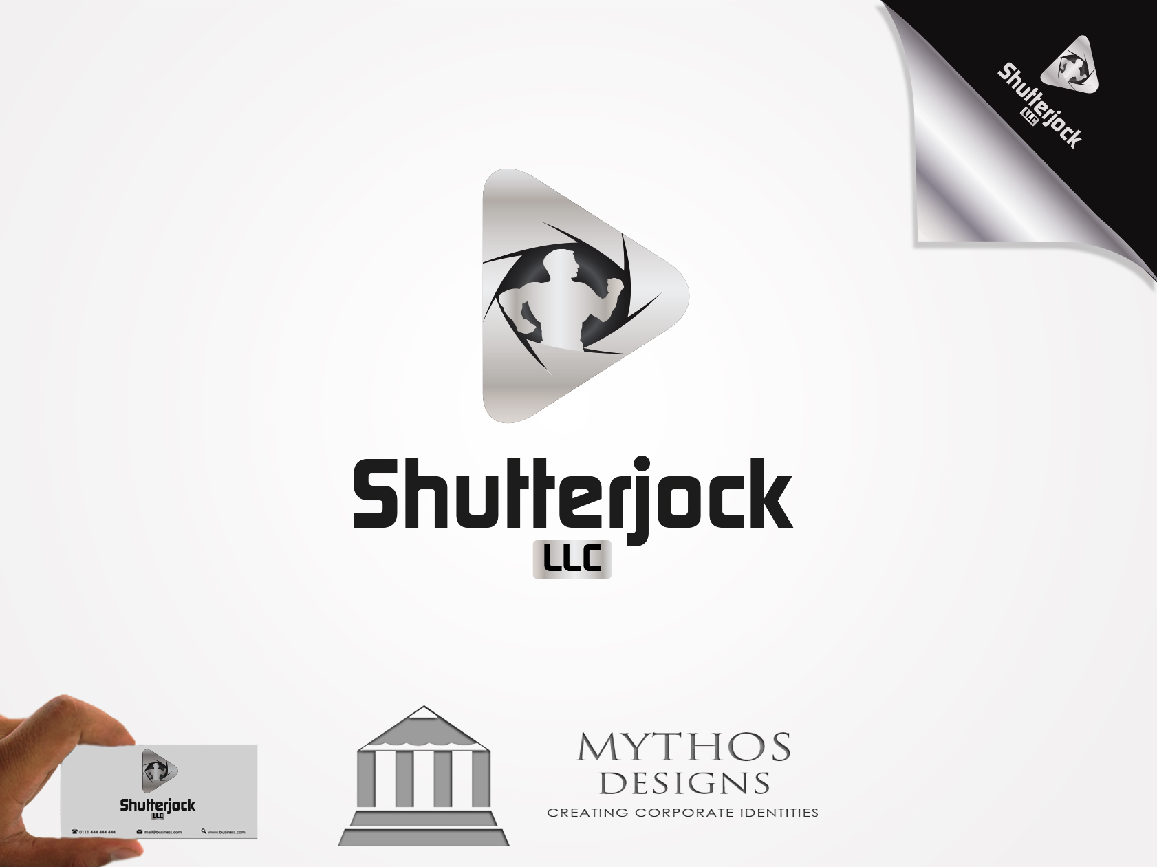 Logo Design by Mythos Designs - Entry No. 75 in the Logo Design Contest Unique Logo Design Wanted for Shutterjock LLC.