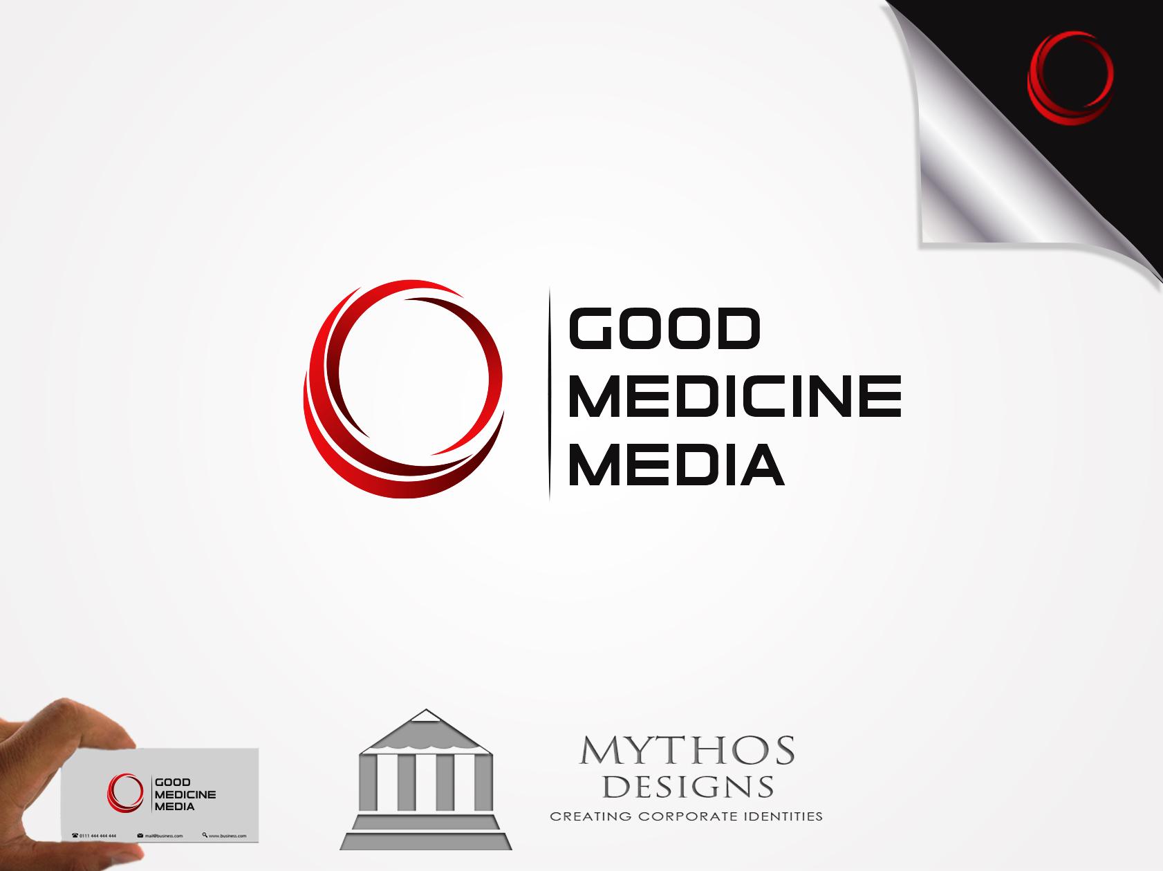 Logo Design by Mythos Designs - Entry No. 4 in the Logo Design Contest Good Medicine Media Logo Design.