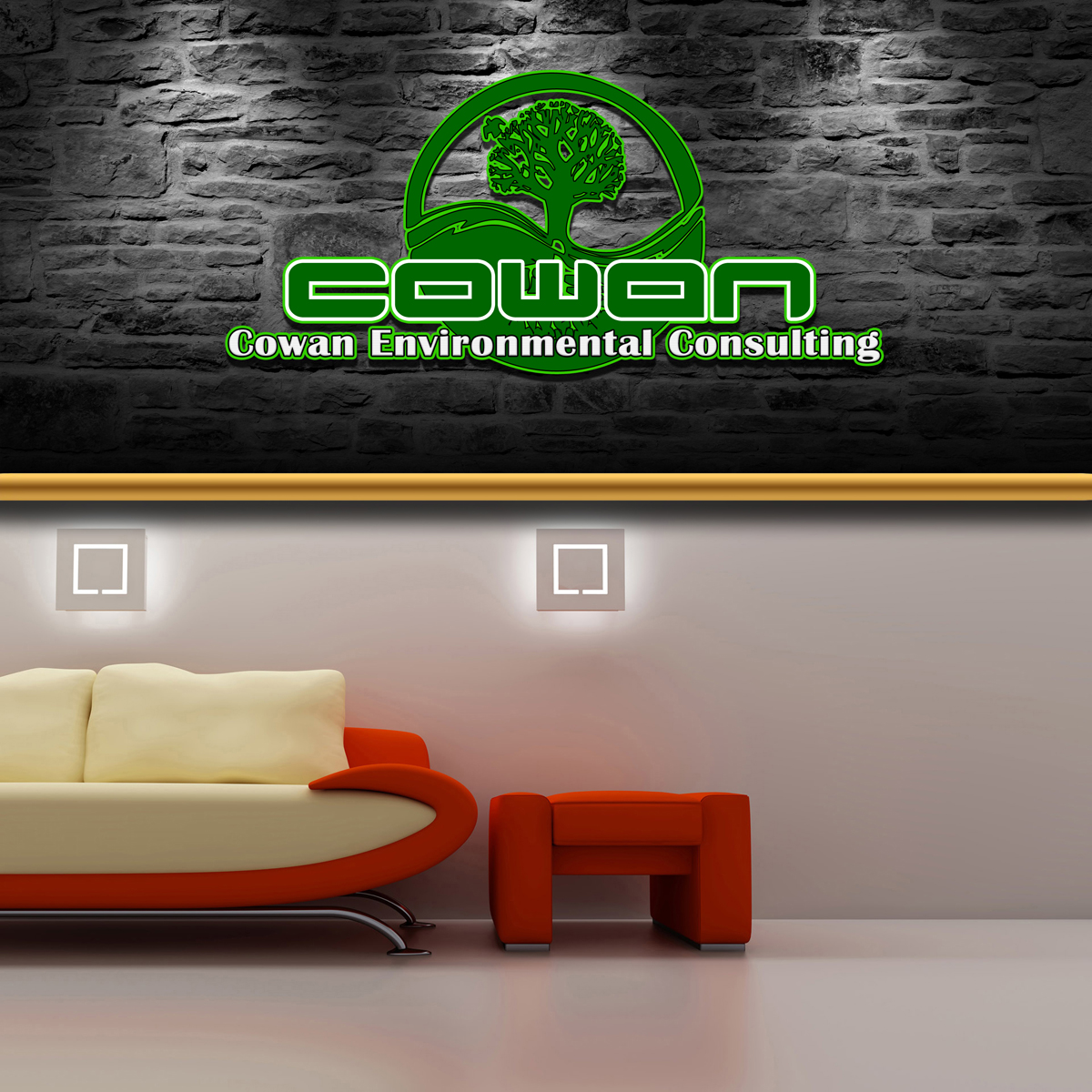 Logo Design by MITUCA ANDREI - Entry No. 34 in the Logo Design Contest Fun Logo Design for Cowan Environmental Consulting.