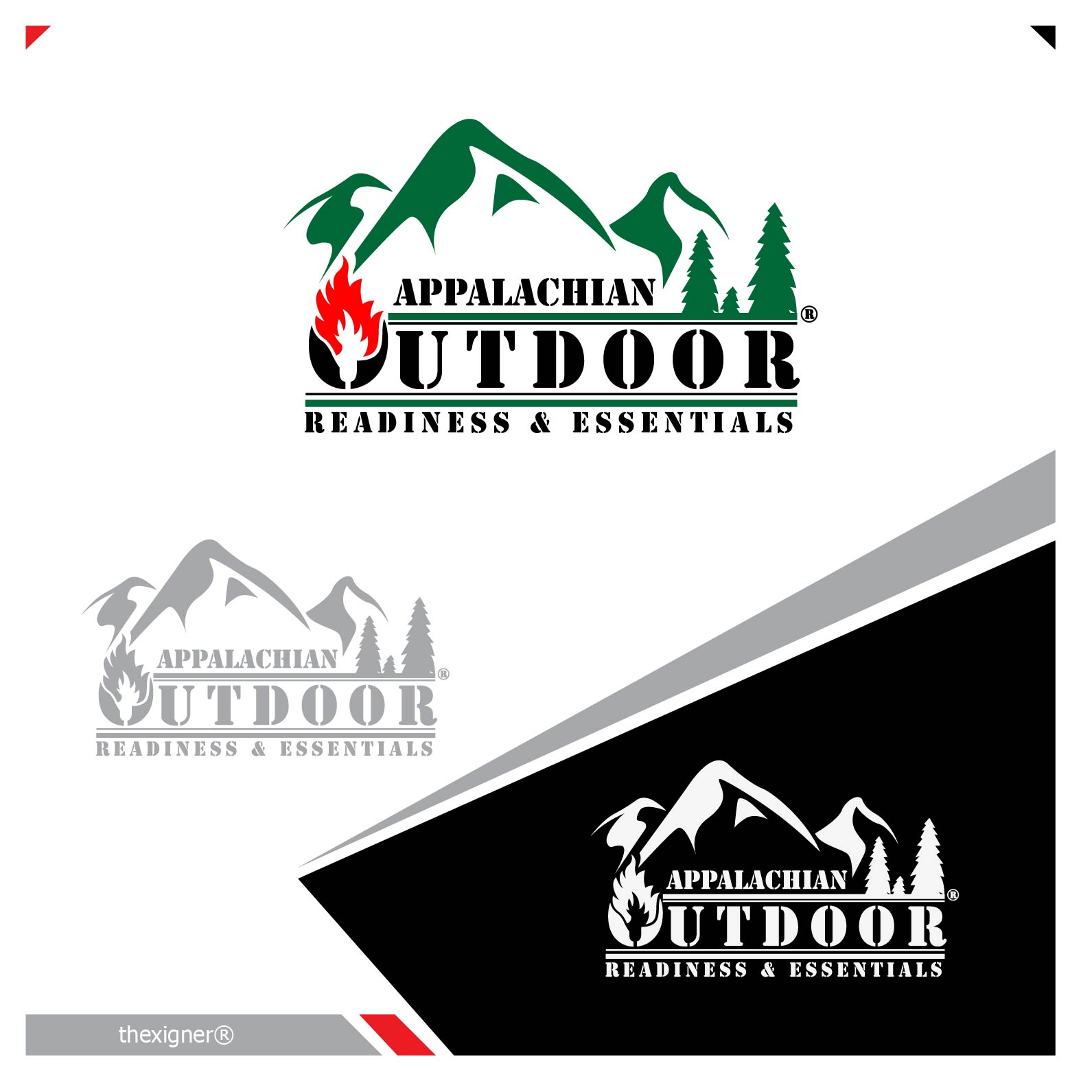 Logo Design by lagalag - Entry No. 29 in the Logo Design Contest Imaginative Logo Design for Appalachian Outdoor Readiness & Essentials.