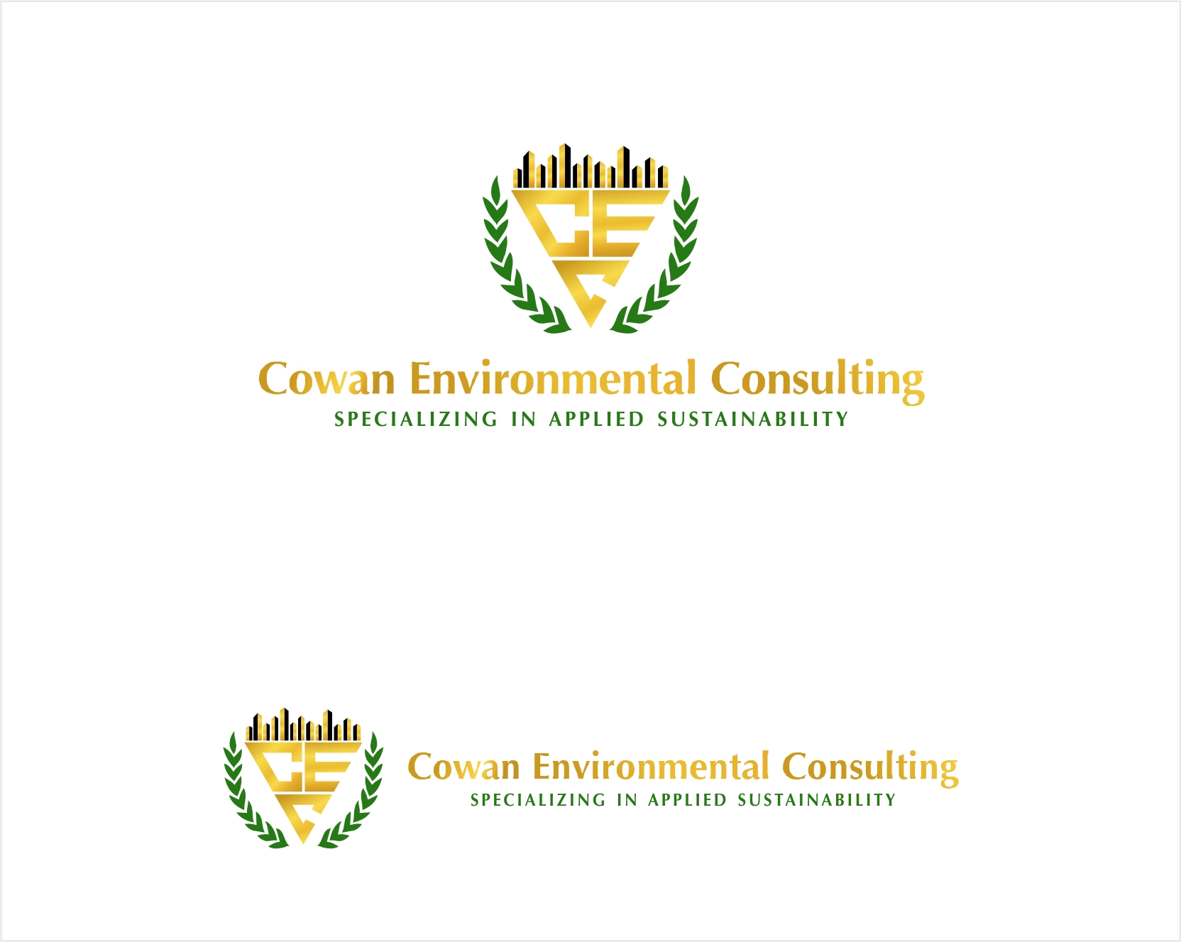 Logo Design by haidu - Entry No. 43 in the Logo Design Contest Fun Logo Design for Cowan Environmental Consulting.