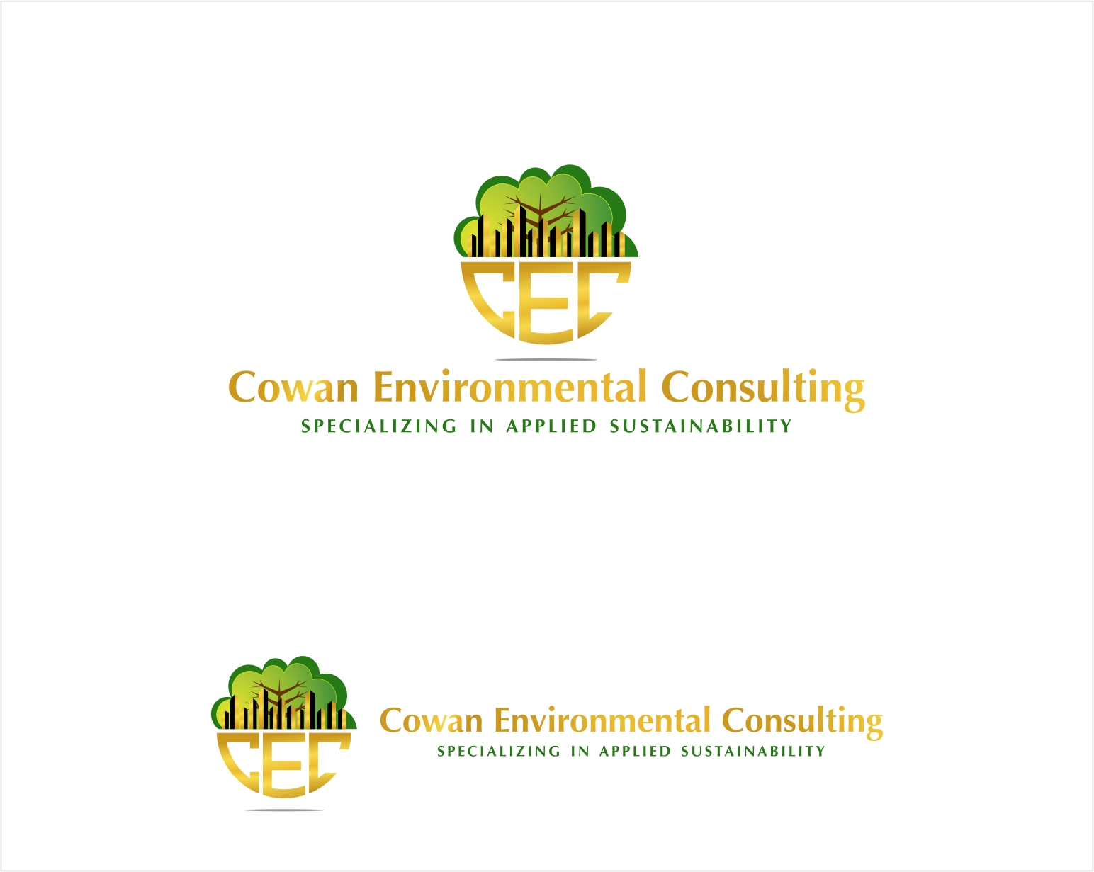 Logo Design by haidu - Entry No. 47 in the Logo Design Contest Fun Logo Design for Cowan Environmental Consulting.