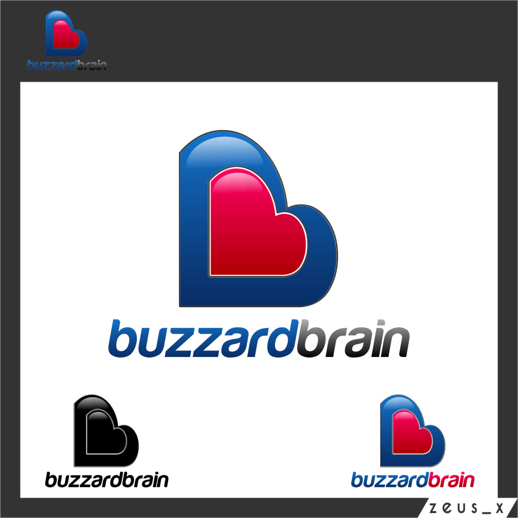 Logo Design by Ngepet_art - Entry No. 52 in the Logo Design Contest Buzzard Brain Logo Design.