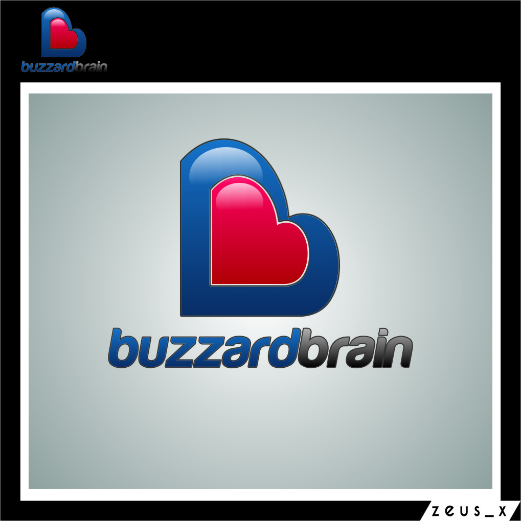 Logo Design by Ngepet_art - Entry No. 53 in the Logo Design Contest Buzzard Brain Logo Design.
