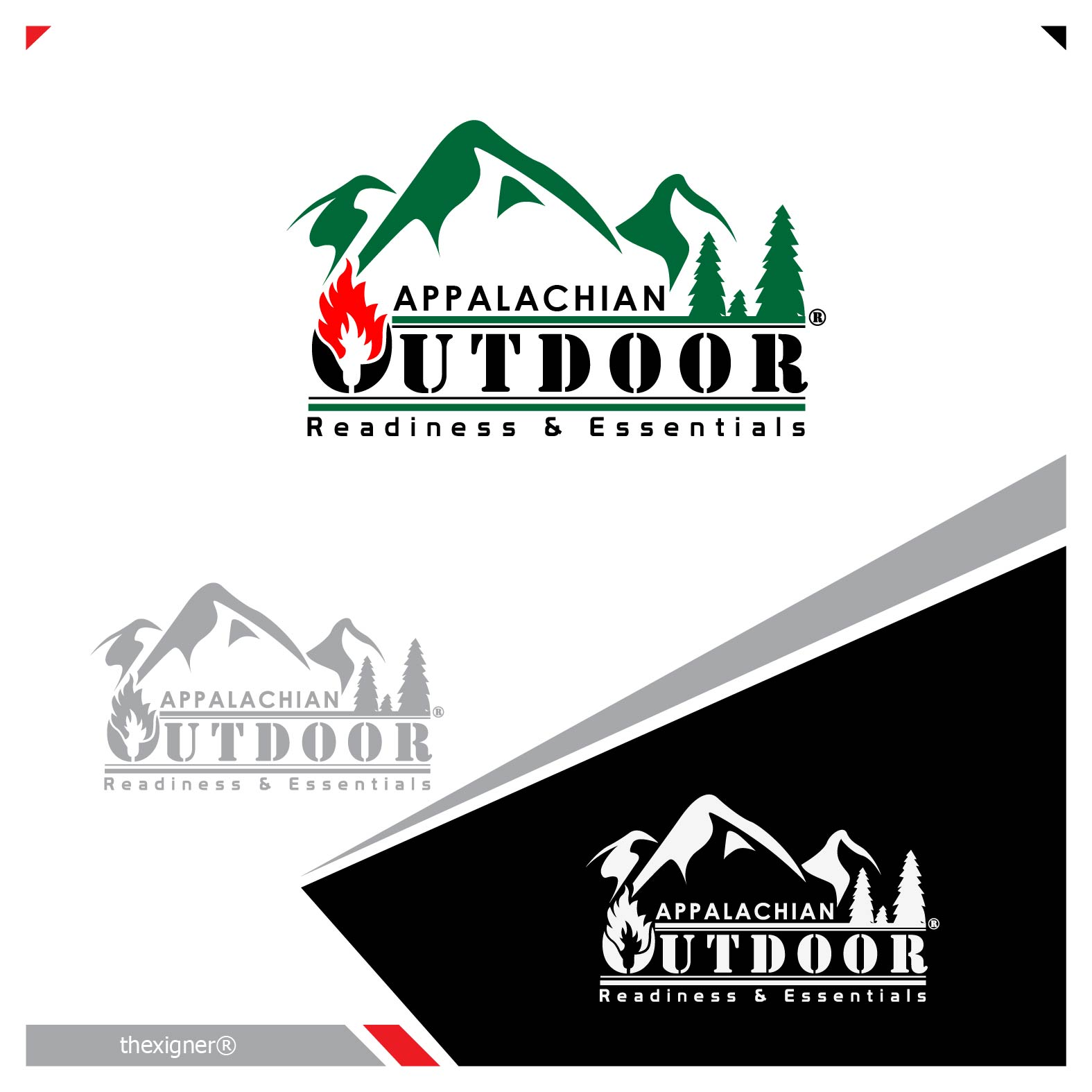 Logo Design by lagalag - Entry No. 36 in the Logo Design Contest Imaginative Logo Design for Appalachian Outdoor Readiness & Essentials.