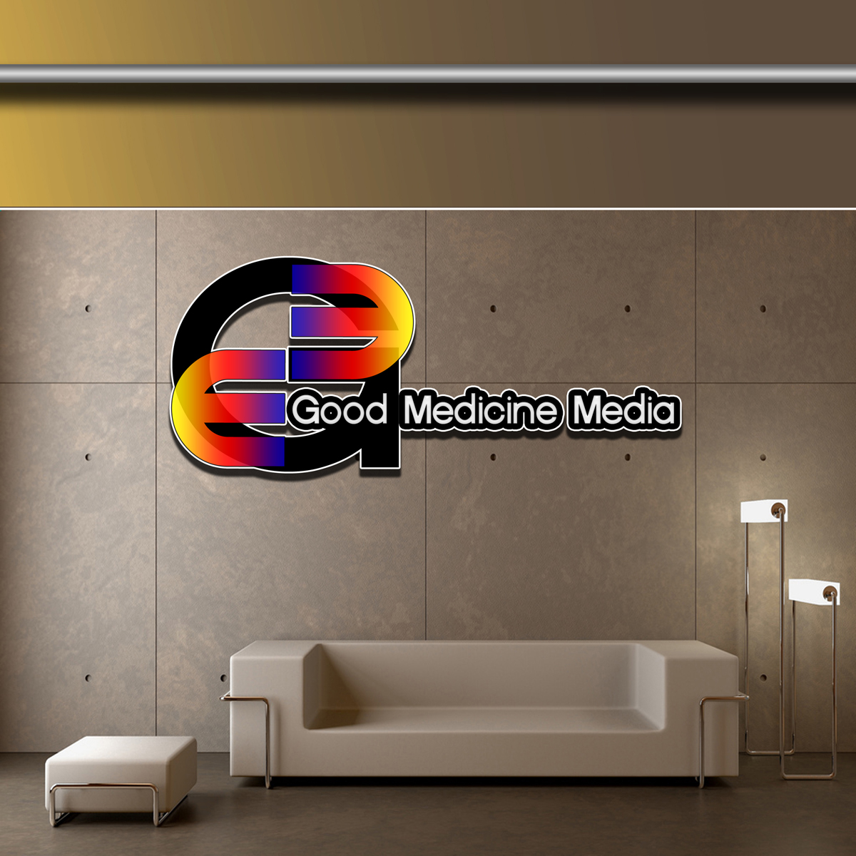Logo Design by MITUCA ANDREI - Entry No. 11 in the Logo Design Contest Good Medicine Media Logo Design.