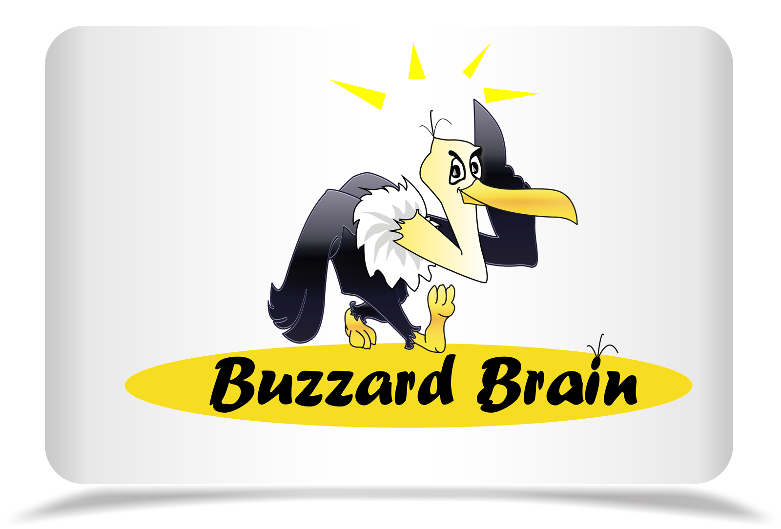 Logo Design by Rozsa Matyas - Entry No. 66 in the Logo Design Contest Buzzard Brain Logo Design.
