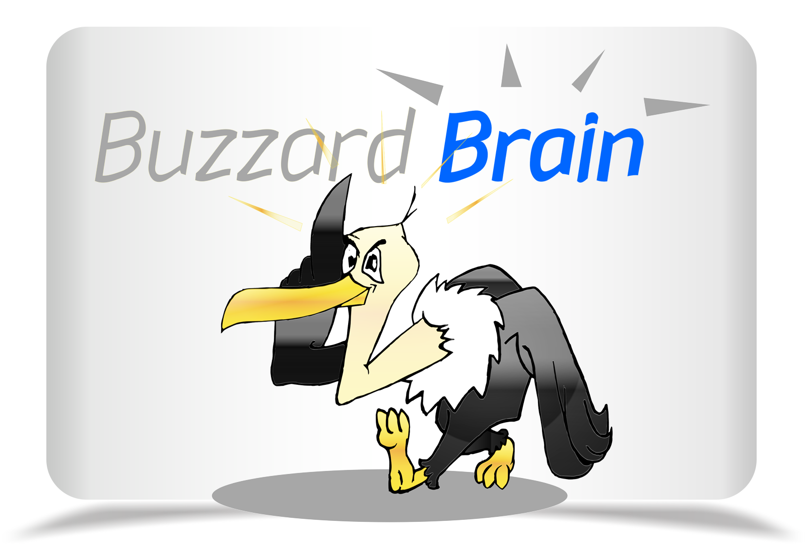 Logo Design by Rozsa Matyas - Entry No. 67 in the Logo Design Contest Buzzard Brain Logo Design.