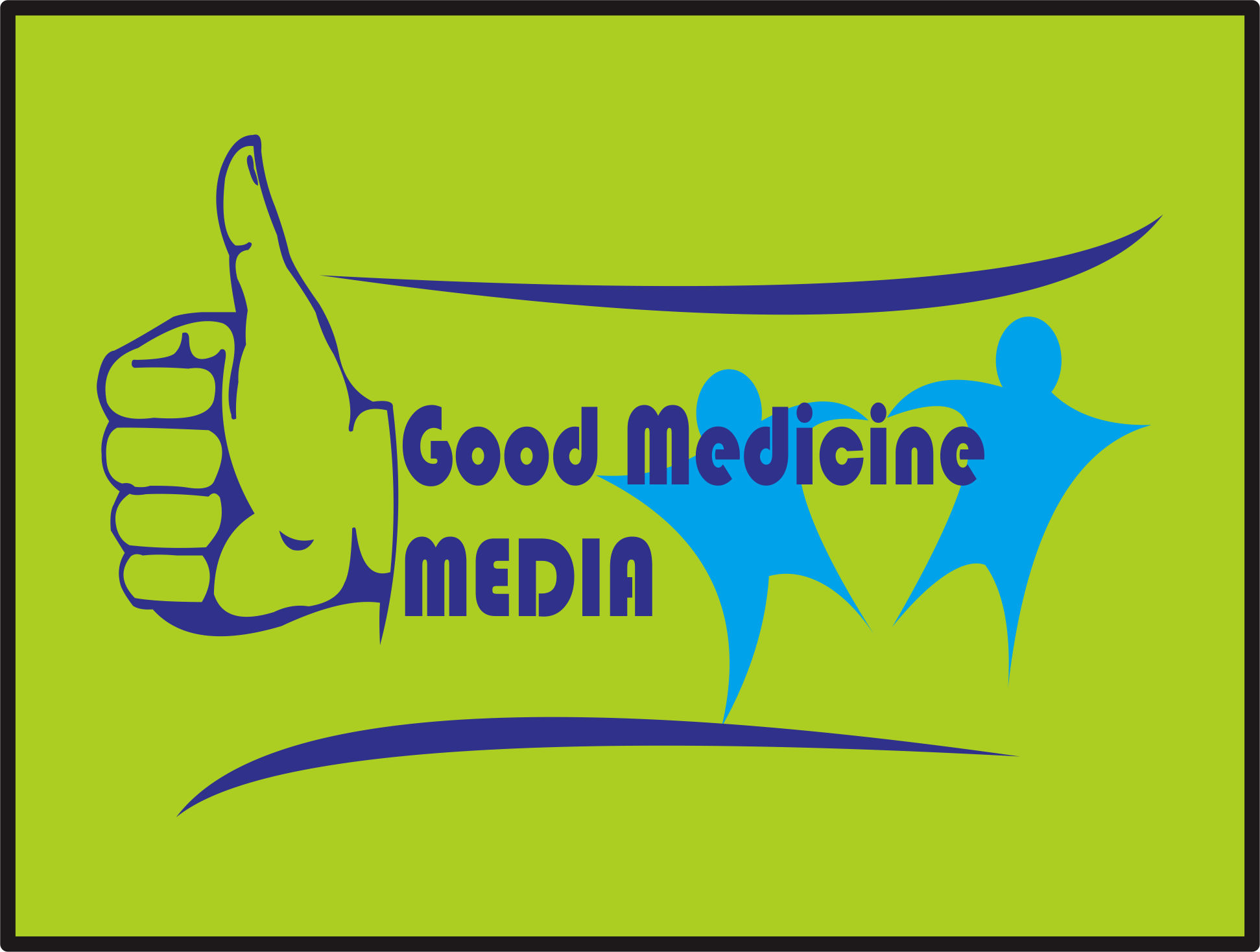 Logo Design by Teguh Hanuraga - Entry No. 19 in the Logo Design Contest Good Medicine Media Logo Design.