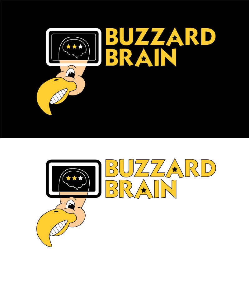 Logo Design by Christina Evans - Entry No. 70 in the Logo Design Contest Buzzard Brain Logo Design.