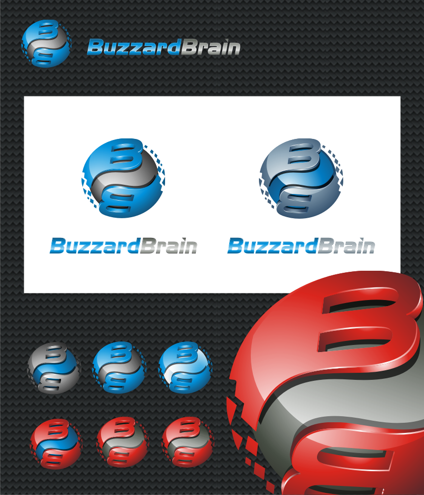 Logo Design by graphicleaf - Entry No. 79 in the Logo Design Contest Buzzard Brain Logo Design.