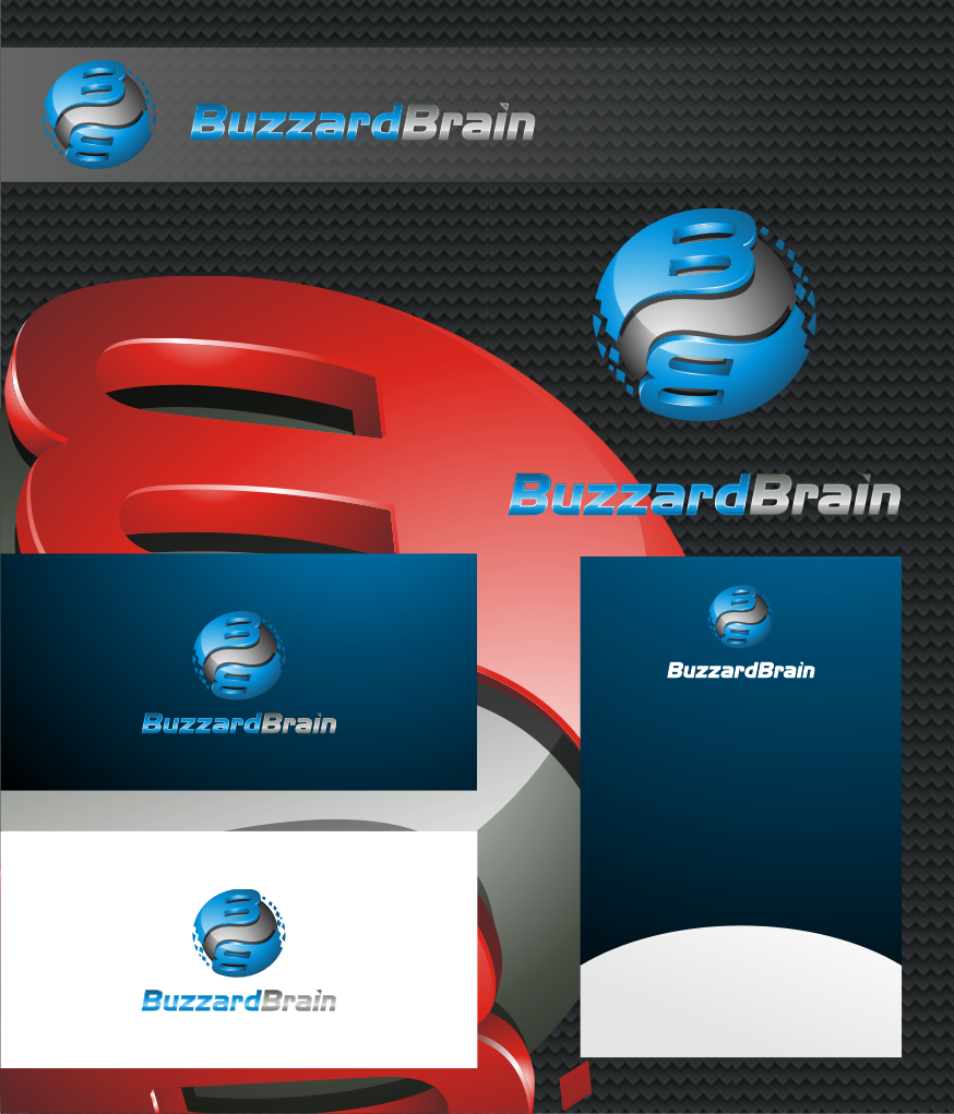 Logo Design by graphicleaf - Entry No. 80 in the Logo Design Contest Buzzard Brain Logo Design.