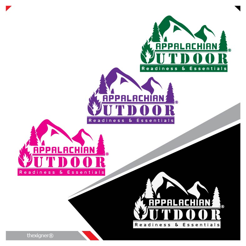 Logo Design by lagalag - Entry No. 37 in the Logo Design Contest Imaginative Logo Design for Appalachian Outdoor Readiness & Essentials.