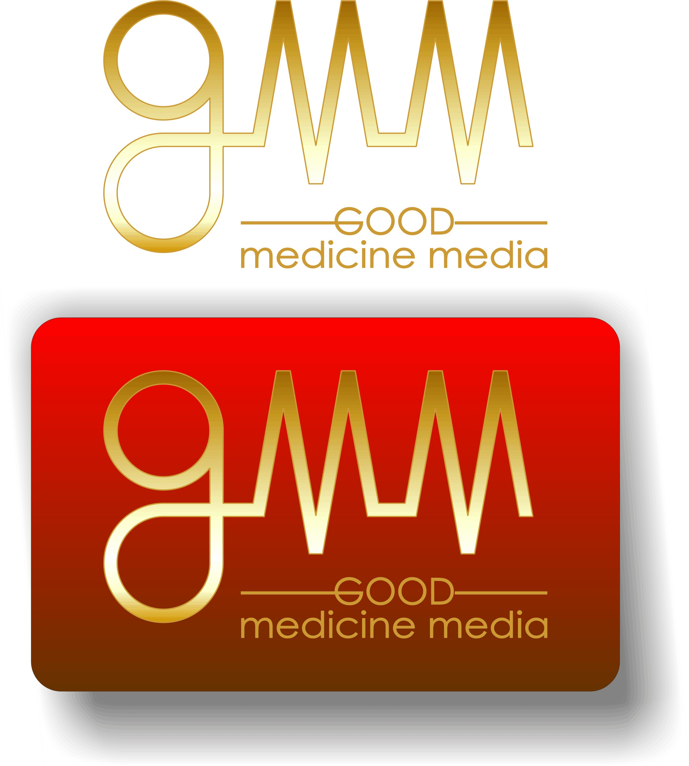 Logo Design by Korsunov Oleg - Entry No. 20 in the Logo Design Contest Good Medicine Media Logo Design.