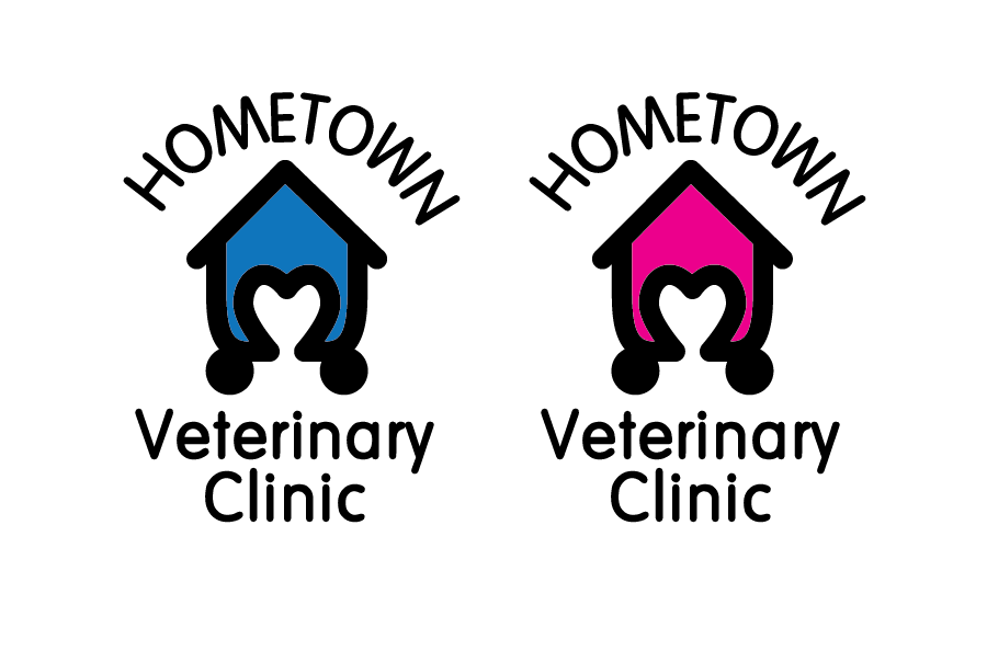 Logo Design by Christina Evans - Entry No. 1 in the Logo Design Contest Captivating Logo Design for Hometown Veterinary Clinic.