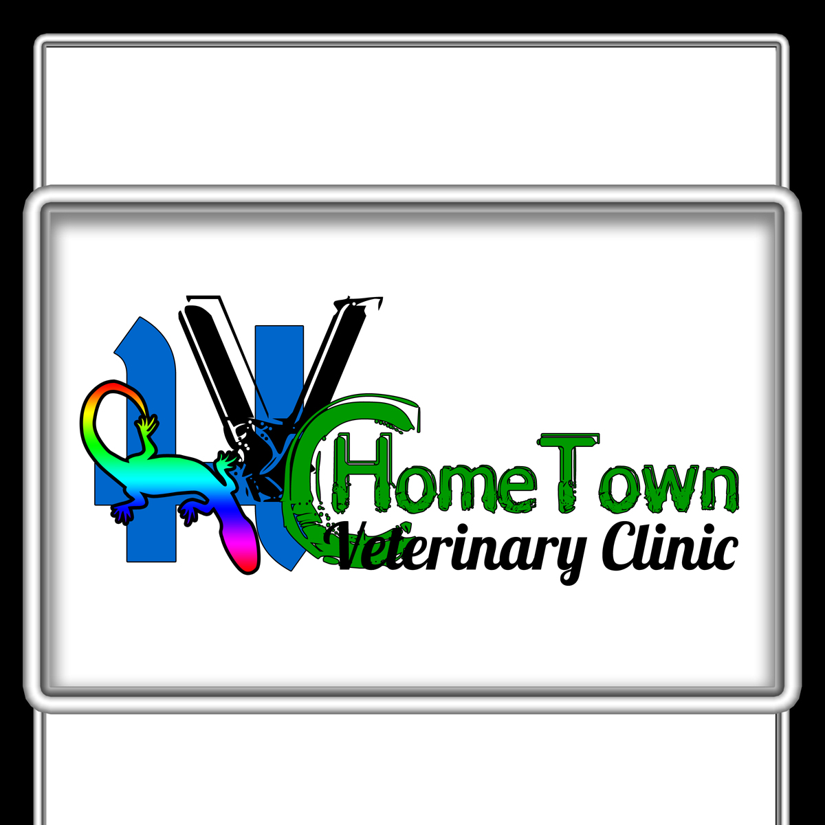 Logo Design by MITUCA ANDREI - Entry No. 9 in the Logo Design Contest Captivating Logo Design for Hometown Veterinary Clinic.