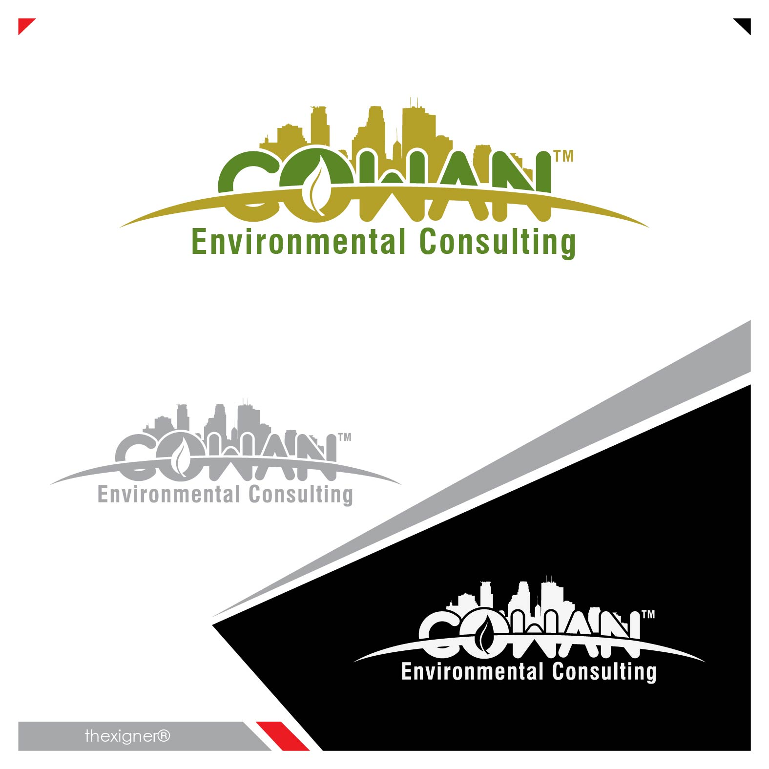Logo Design by lagalag - Entry No. 57 in the Logo Design Contest Fun Logo Design for Cowan Environmental Consulting.