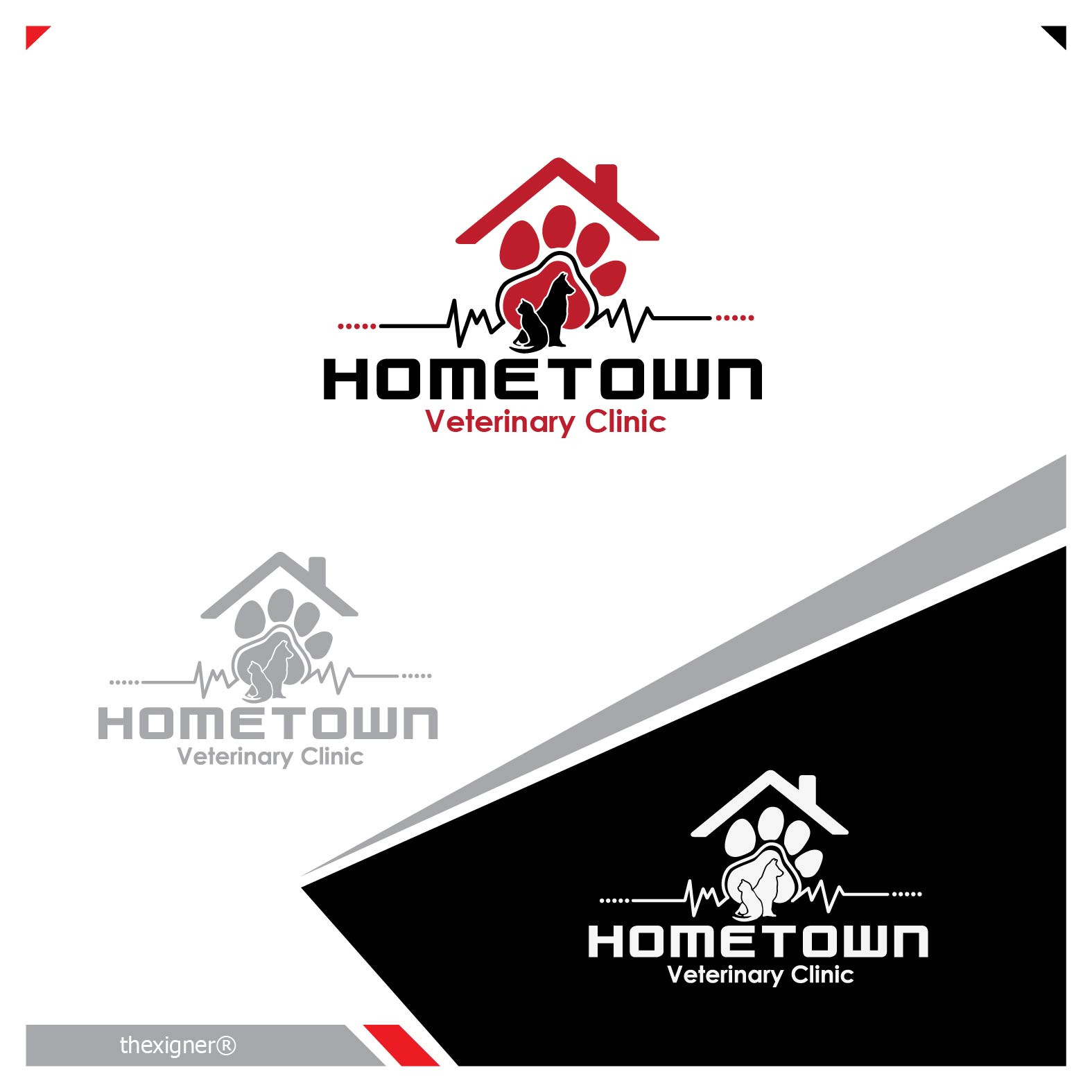 Logo Design by lagalag - Entry No. 14 in the Logo Design Contest Captivating Logo Design for Hometown Veterinary Clinic.