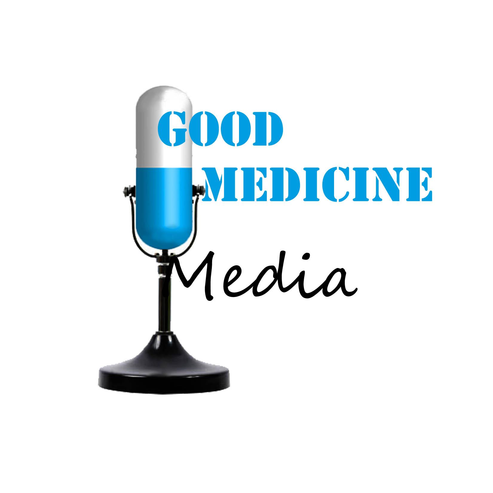 Logo Design by Rakia Raza - Entry No. 31 in the Logo Design Contest Good Medicine Media Logo Design.