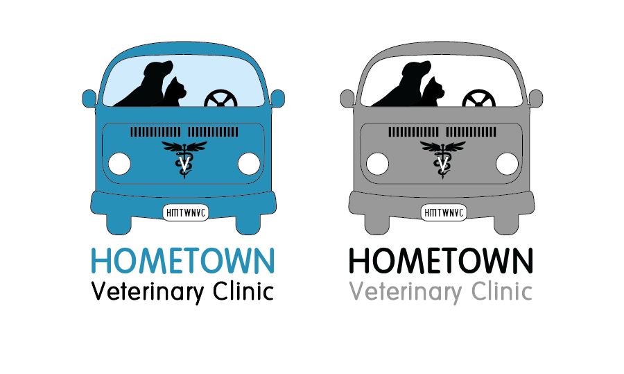 Logo Design by Christina Evans - Entry No. 15 in the Logo Design Contest Captivating Logo Design for Hometown Veterinary Clinic.