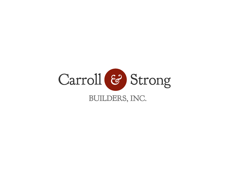 Logo Design by Stephen Young - Entry No. 4 in the Logo Design Contest New Logo Design for Carroll & Strong Builders, Inc..