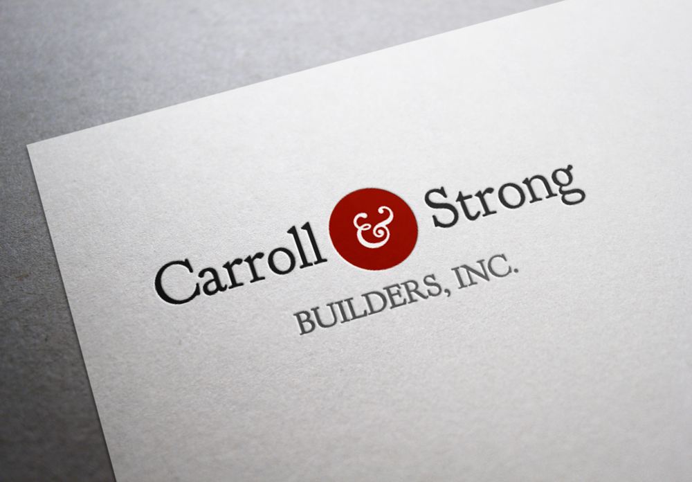 Logo Design by Stephen Young - Entry No. 5 in the Logo Design Contest New Logo Design for Carroll & Strong Builders, Inc..