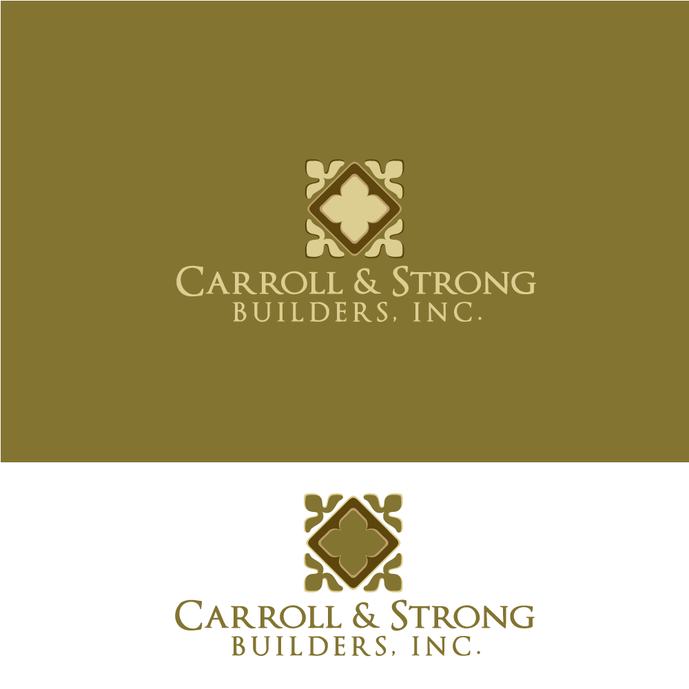 Logo Design by rockin - Entry No. 7 in the Logo Design Contest New Logo Design for Carroll & Strong Builders, Inc..