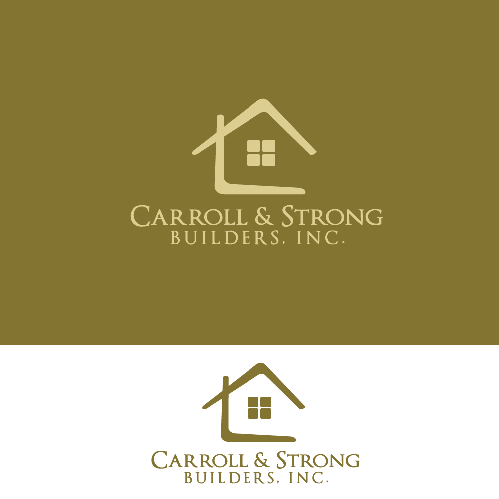 Logo Design by rockin - Entry No. 8 in the Logo Design Contest New Logo Design for Carroll & Strong Builders, Inc..