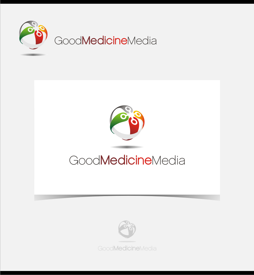 Logo Design by graphicleaf - Entry No. 51 in the Logo Design Contest Good Medicine Media Logo Design.