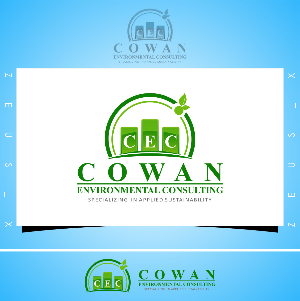Logo Design by Ngepet_art - Entry No. 90 in the Logo Design Contest Fun Logo Design for Cowan Environmental Consulting.
