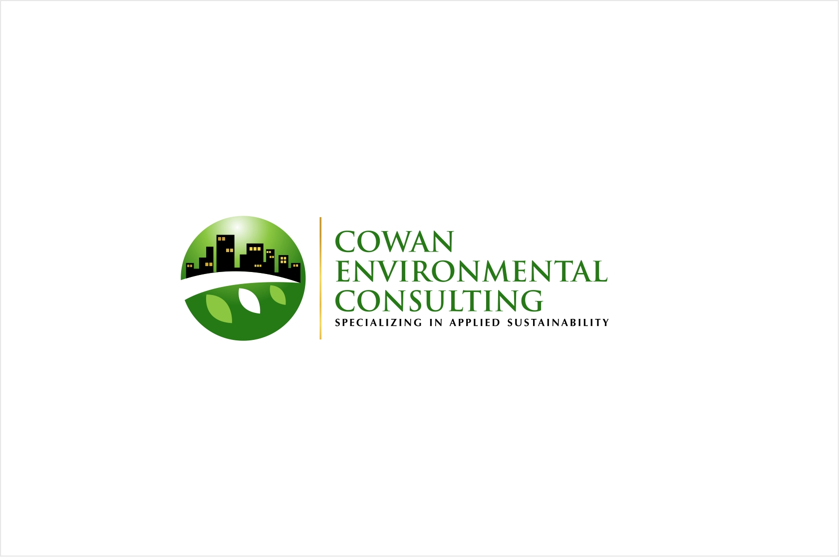 Logo design contests fun logo design for cowan for Sustainable design consultants