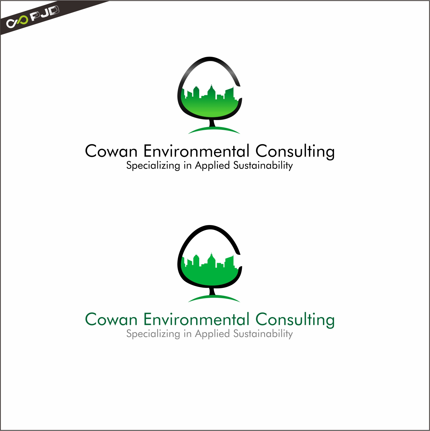 Logo Design by PJD - Entry No. 101 in the Logo Design Contest Fun Logo Design for Cowan Environmental Consulting.