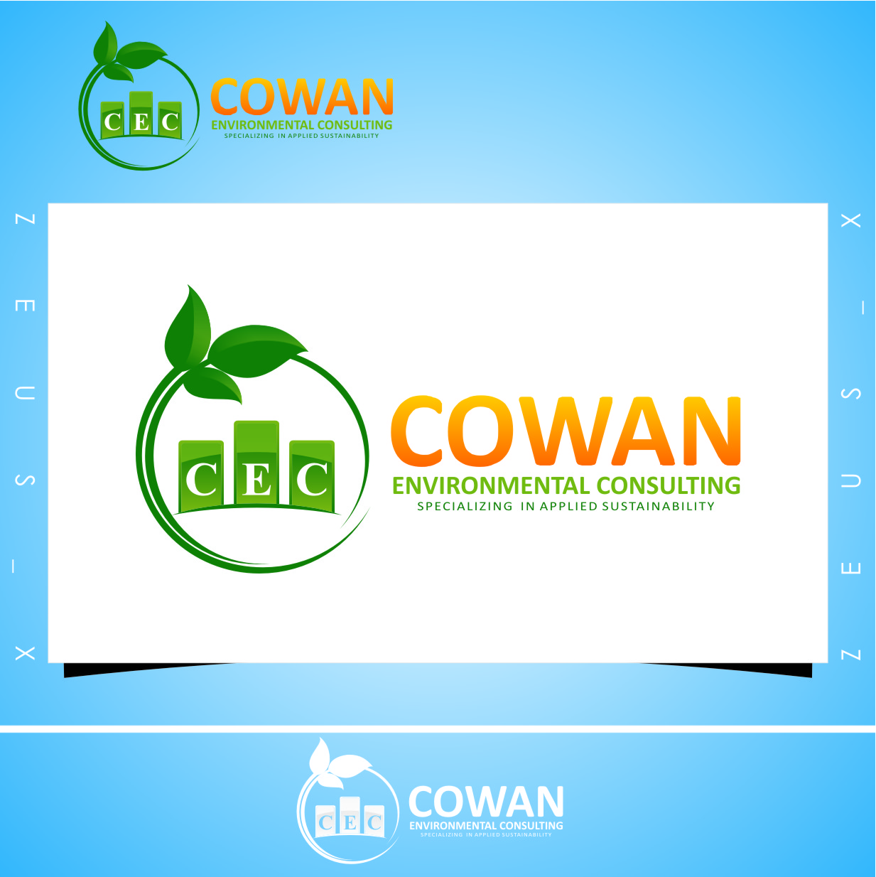 Logo Design by RasYa Muhammad Athaya - Entry No. 103 in the Logo Design Contest Fun Logo Design for Cowan Environmental Consulting.