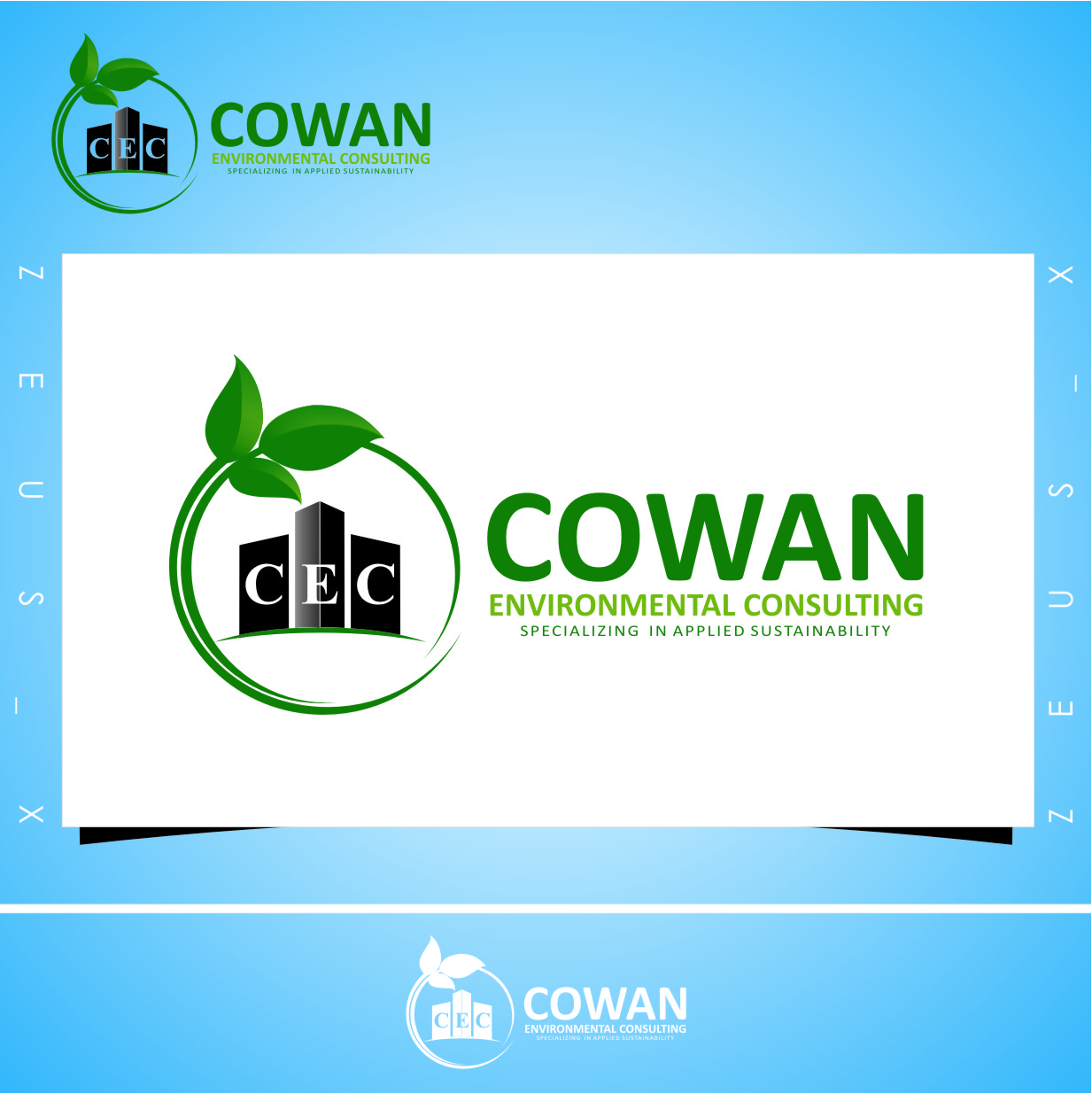 Logo Design by RasYa Muhammad Athaya - Entry No. 104 in the Logo Design Contest Fun Logo Design for Cowan Environmental Consulting.
