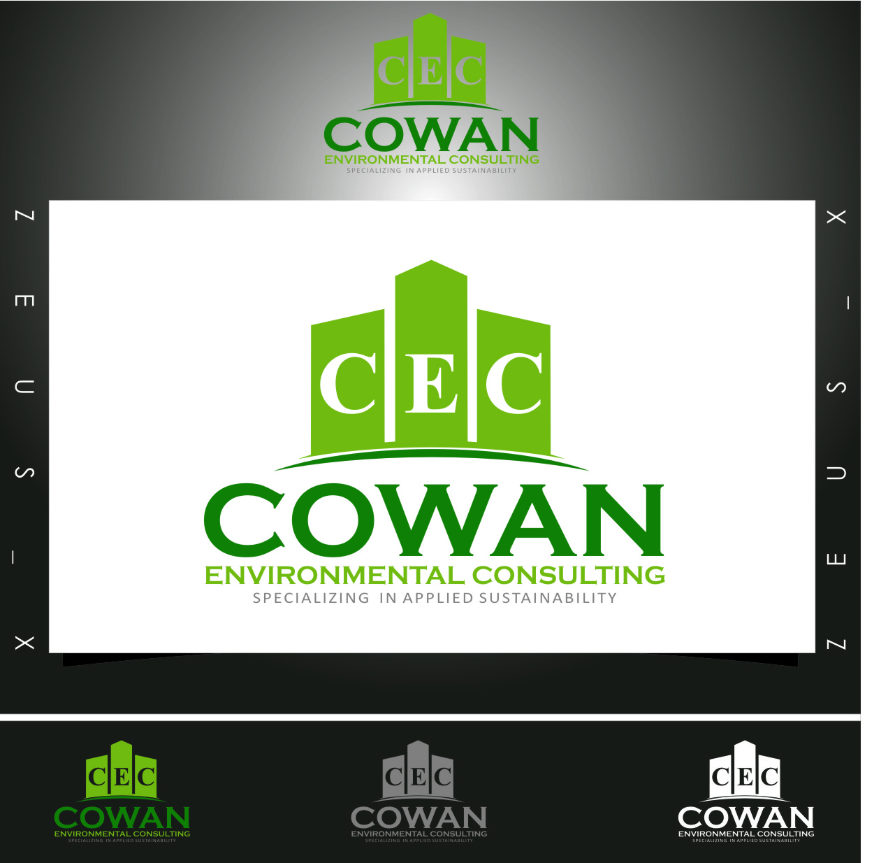 Logo Design by RasYa Muhammad Athaya - Entry No. 106 in the Logo Design Contest Fun Logo Design for Cowan Environmental Consulting.