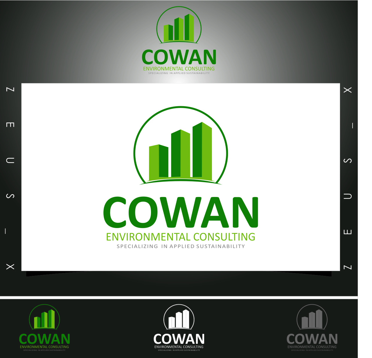 Logo Design by RasYa Muhammad Athaya - Entry No. 109 in the Logo Design Contest Fun Logo Design for Cowan Environmental Consulting.