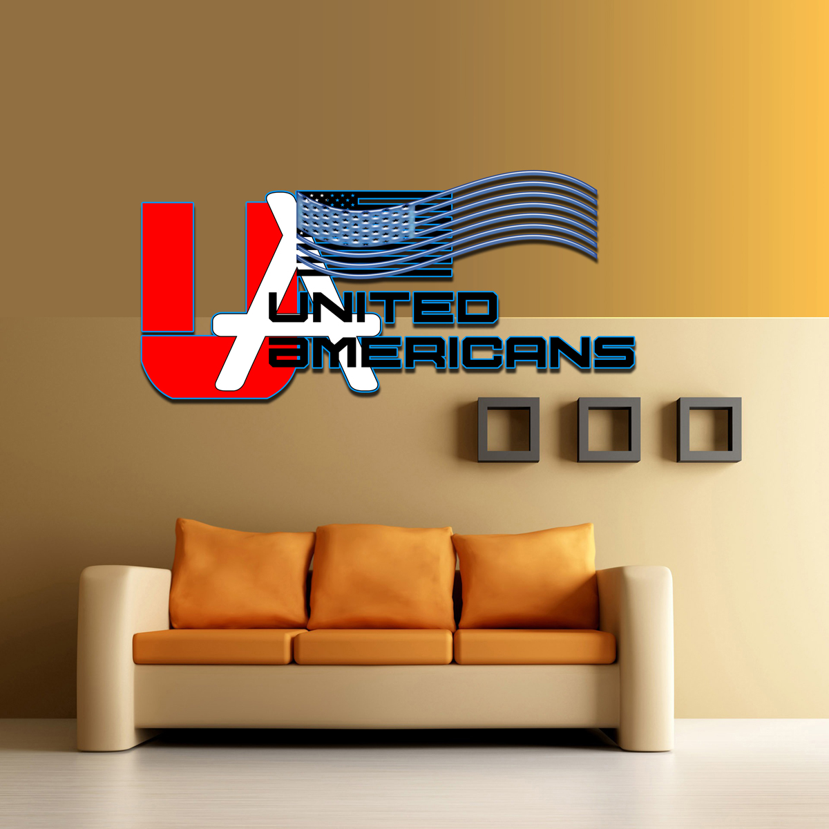 Logo Design by MITUCA ANDREI - Entry No. 17 in the Logo Design Contest Creative Logo Design for United Americans.