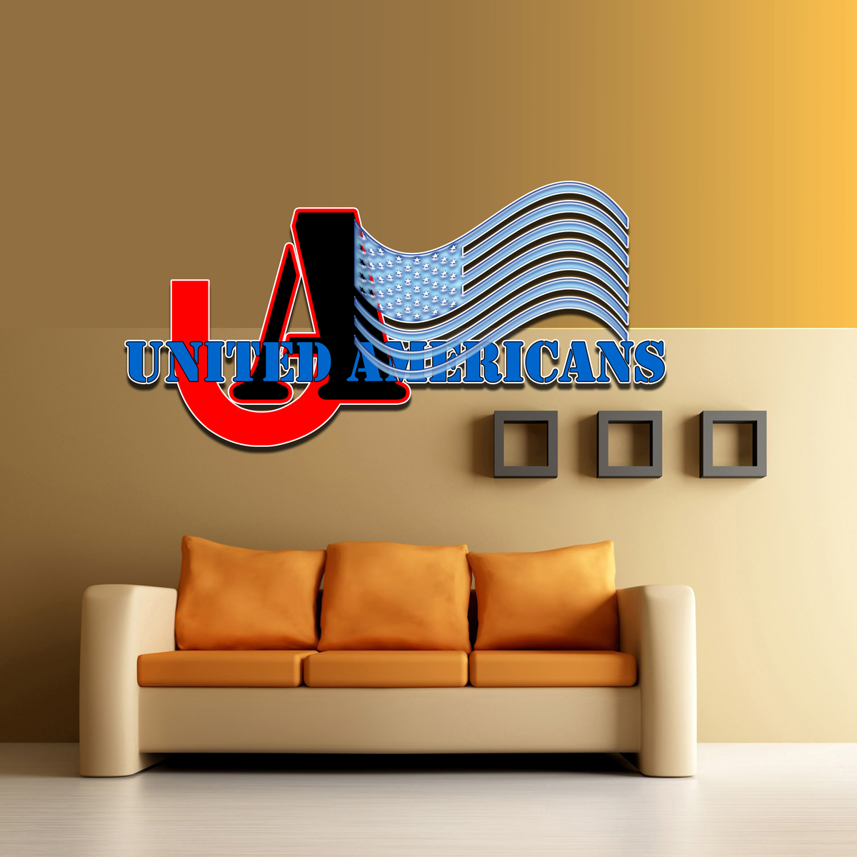 Logo Design by MITUCA ANDREI - Entry No. 19 in the Logo Design Contest Creative Logo Design for United Americans.