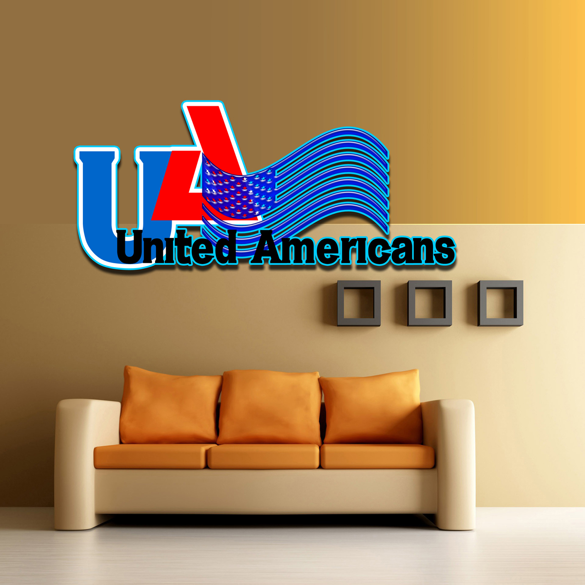 Logo Design by MITUCA ANDREI - Entry No. 20 in the Logo Design Contest Creative Logo Design for United Americans.