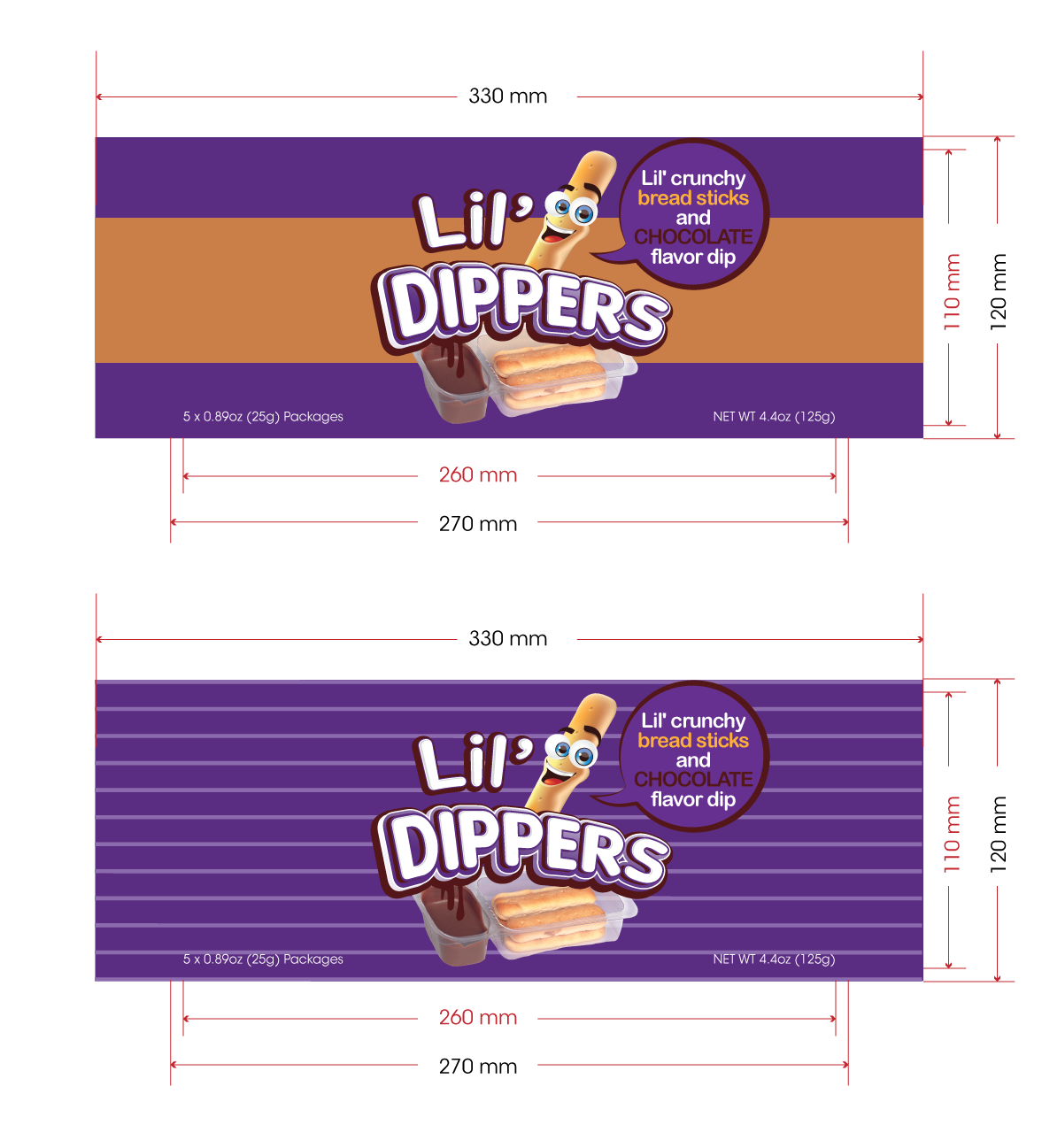 Packaging Design by zesthar - Entry No. 26 in the Packaging Design Contest Inspiring Packaging Design for Lil' Dippers.
