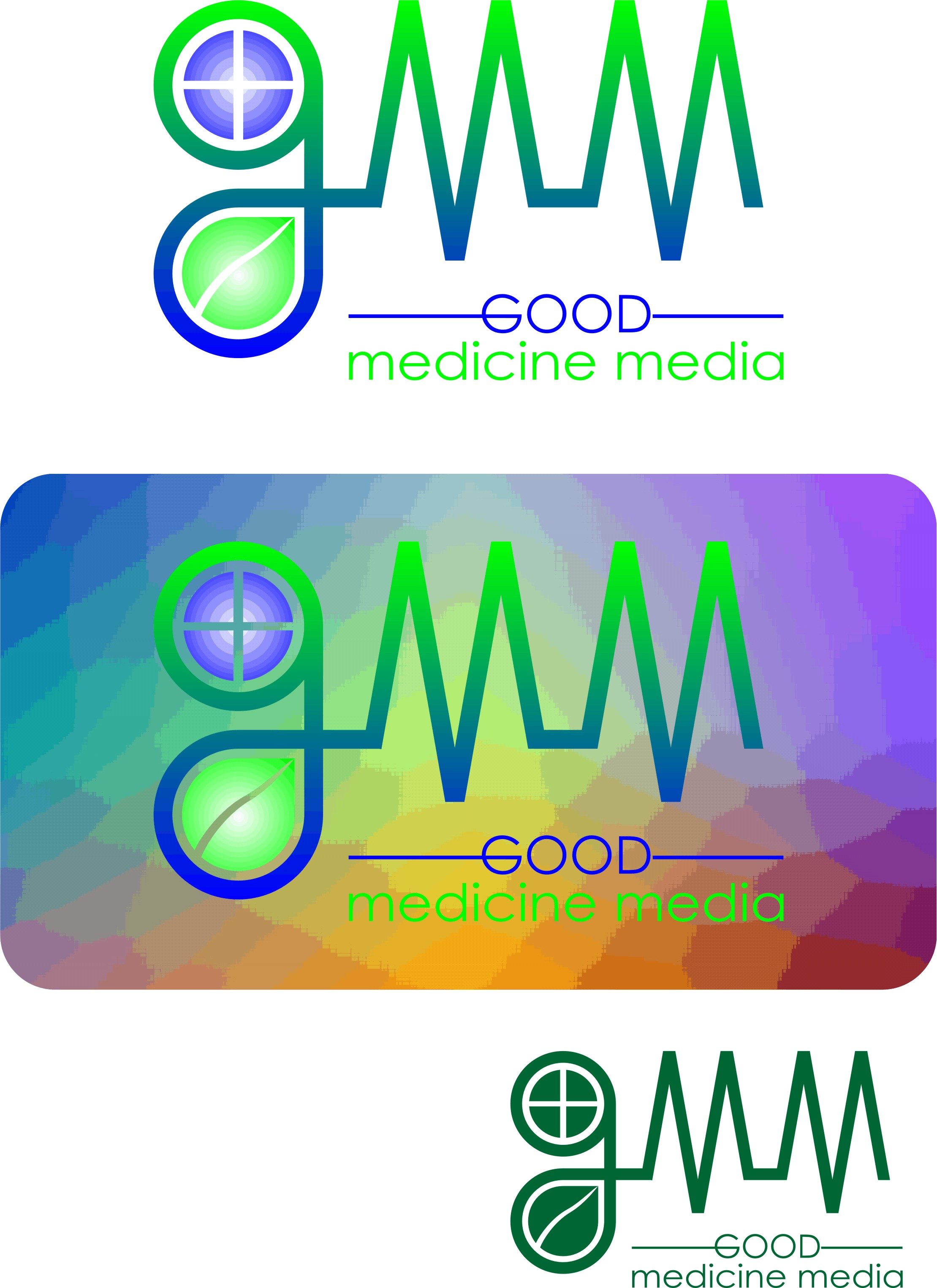 Logo Design by Korsunov Oleg - Entry No. 70 in the Logo Design Contest Good Medicine Media Logo Design.