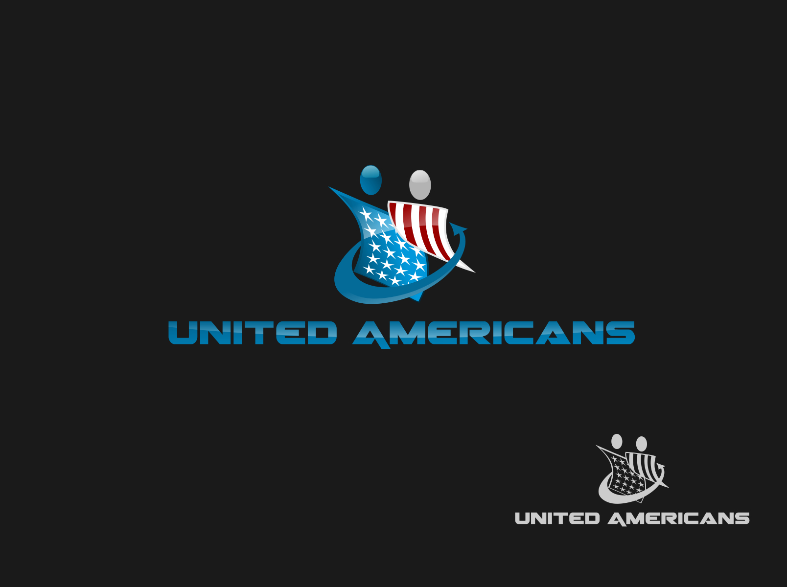 Logo Design by Chris Frederickson - Entry No. 24 in the Logo Design Contest Creative Logo Design for United Americans.