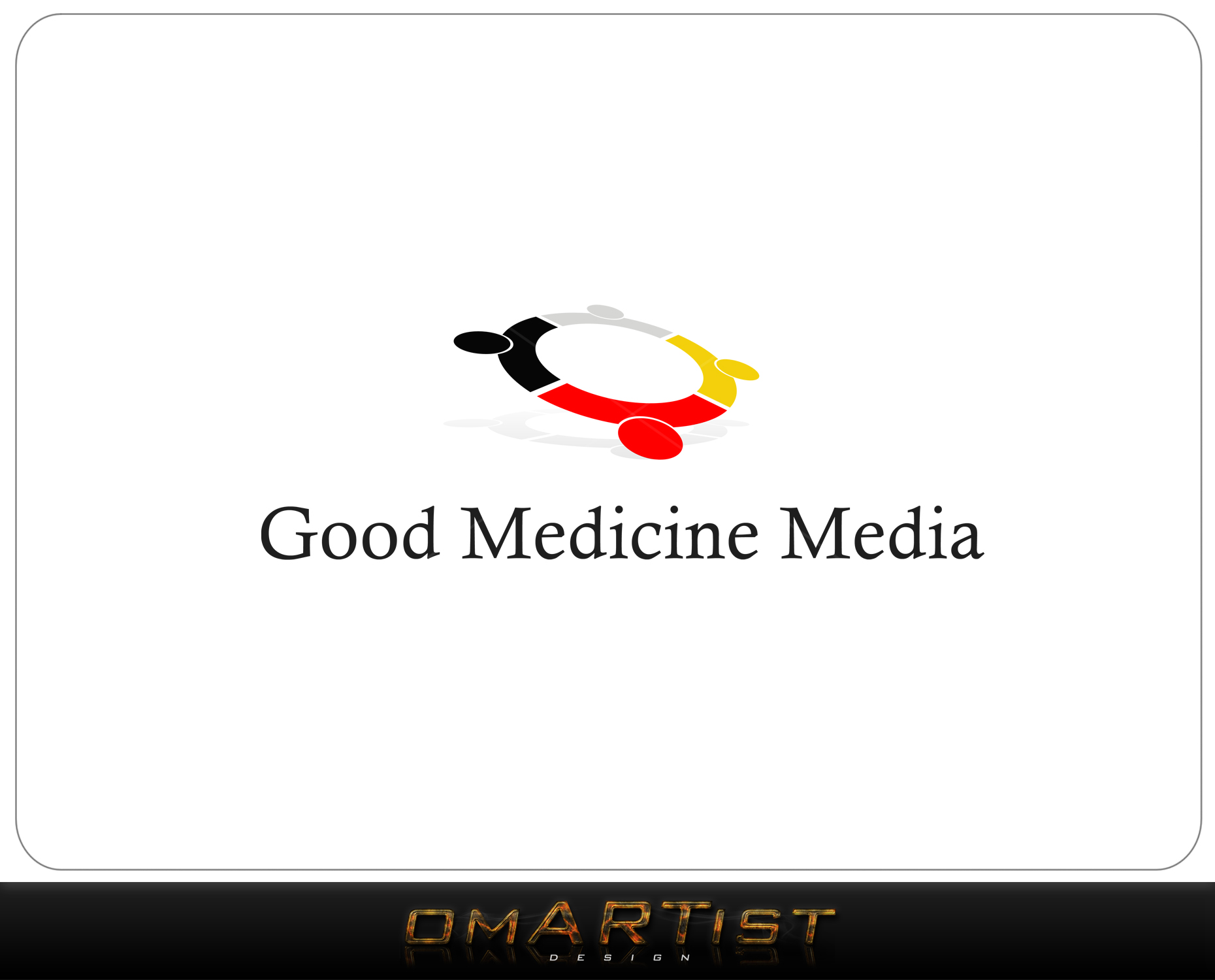 Logo Design by omARTist - Entry No. 72 in the Logo Design Contest Good Medicine Media Logo Design.
